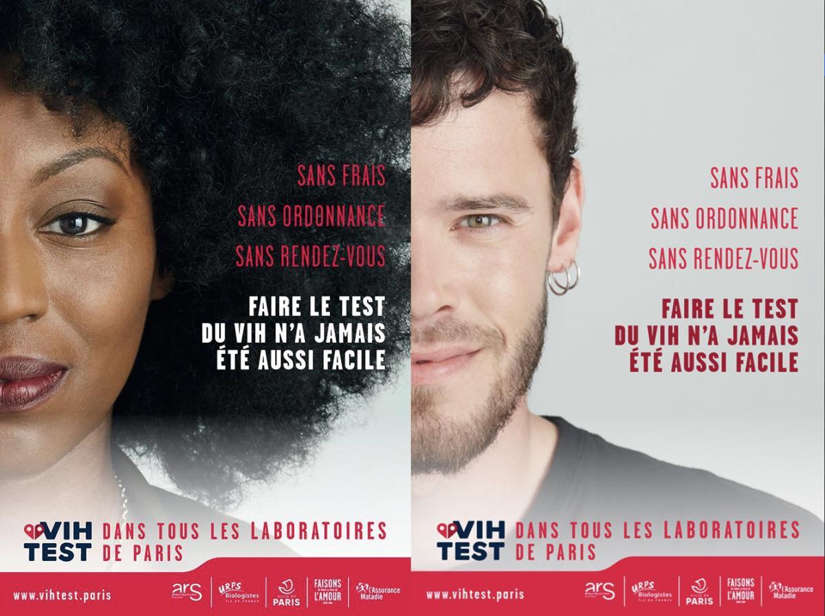 Les affiches parisiennes de VIHTEST
