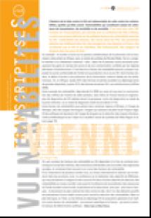 Transcriptases 143 : Vulnérabilités