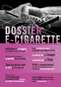 Swaps 74: Dossier e-cigarette